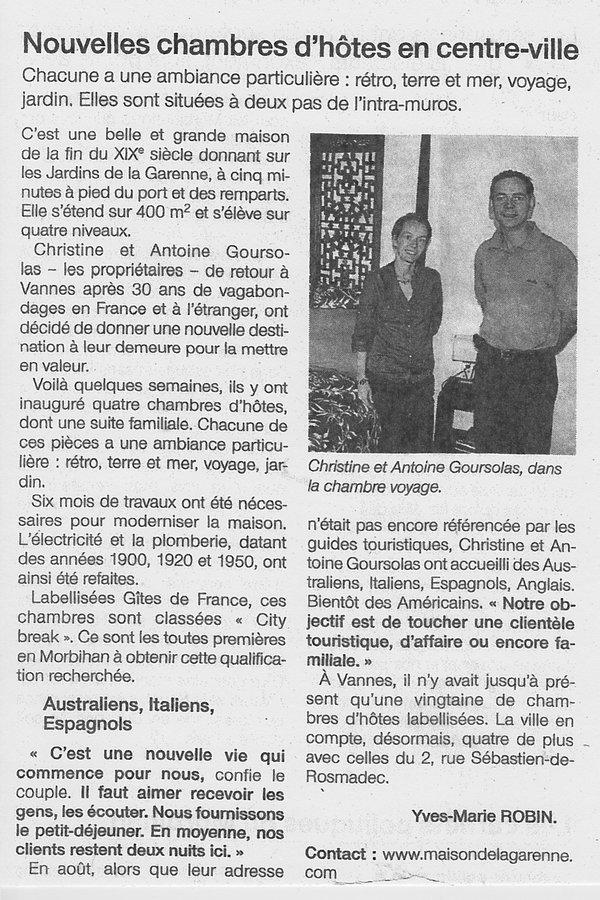 Ouest-France, édition Vannes